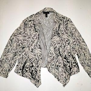 INC Lace Blazer Moto Jacket Cardigan Plus 3X 22 24